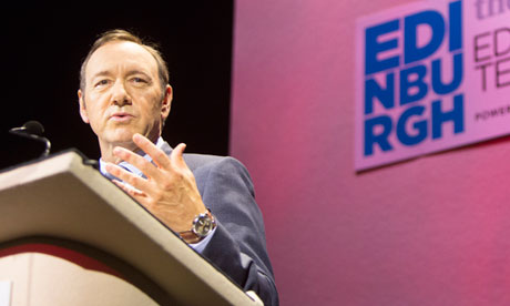 Kevin Spacey  delivers the 2013 MacTaggart lecture in Edinburgh